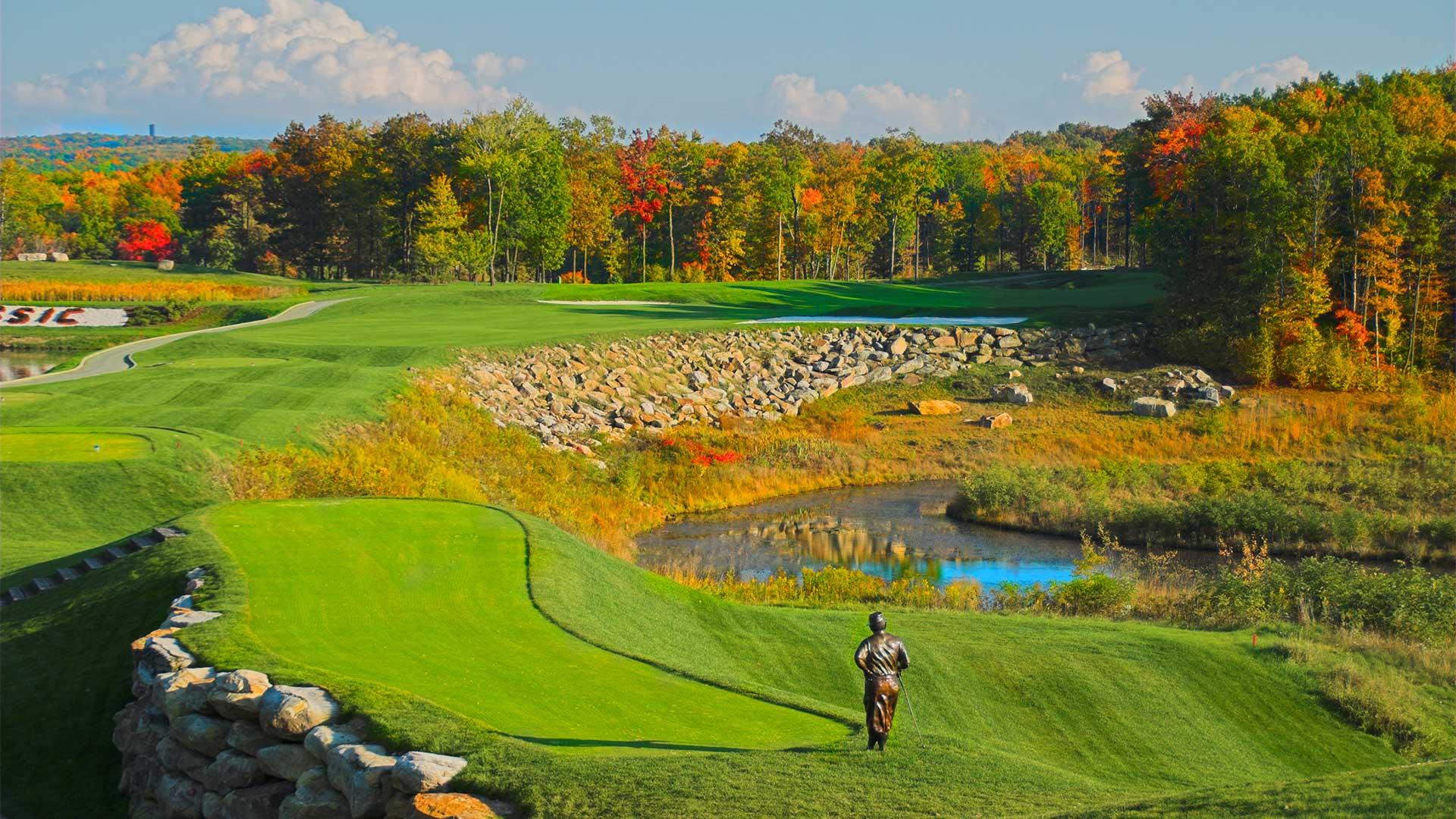 golf course during autumn