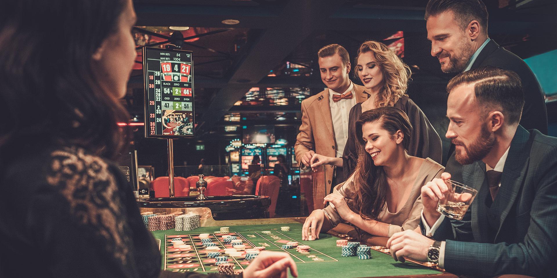 people gambling at a casino